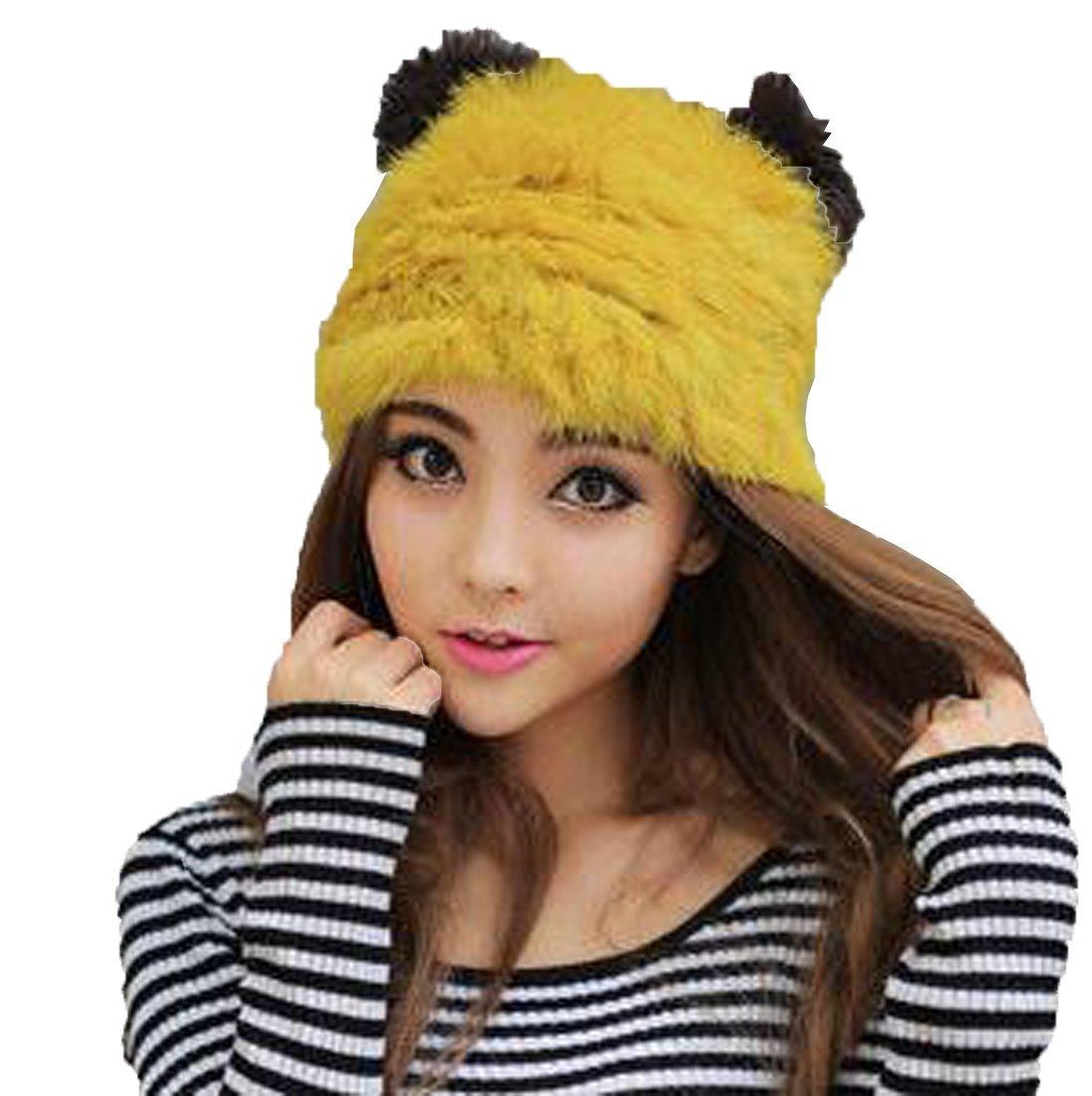 d8e9752a1f1 Get Quotations · LAN-GO Fashion Cute Cat Ears Hat Women Winter Warm Lady Hat  Ear Cap (