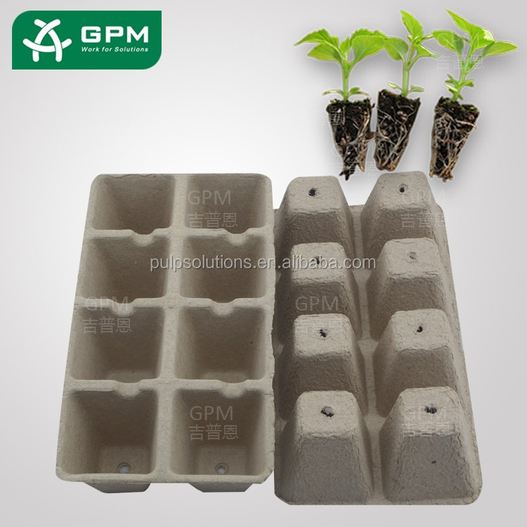 Biodegradable Papepr Pulp Waterproof seed starter tray for sale