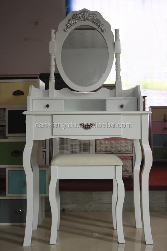 Witte moderne kaptafel met spiegel kaptafel met kruk houten dressoir dressoirs product id - Kruk voor dressing ...