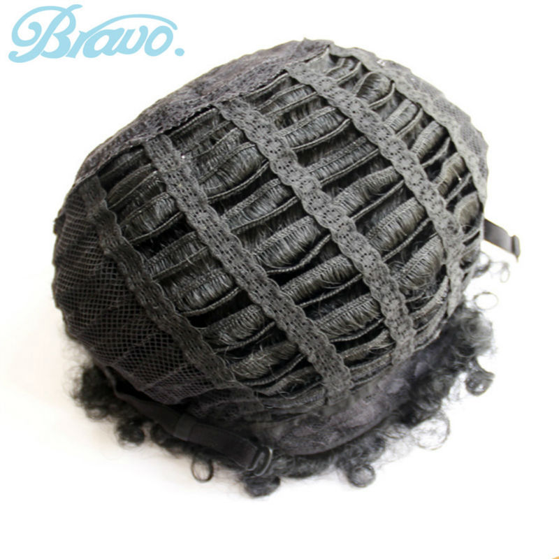 Fashion Black Drawstring Curly Afro Kinky Curly Wigs Synthetic Kinky Afro Wigs None Lace Short Cosplay Wigs for Black Women