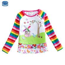 2015 long sleeve t shirt girls t shirt nova kids brand 100% cotton kids t shirt