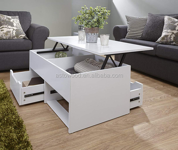 2 Drawer Lift Up Top Coffee Table With Two Direction Open Tea End Side Product On Alibaba