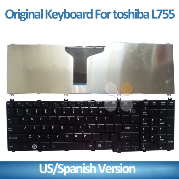 New Laptop Keyboard for Toshiba L755 L755d L755-S5214 Notebook keyboard with US layout Black color