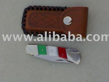 Pocket Knife With Italian Flag Handle With Leather Sheath - Buy Knives  Product on Alibaba com