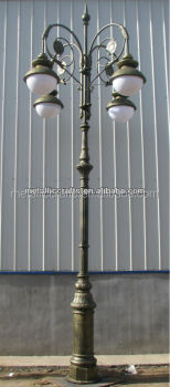 Cast Aluminium Saudi Arabia Decorative Street Lamp Post/cast Iron Classic LED  Lamp Post/