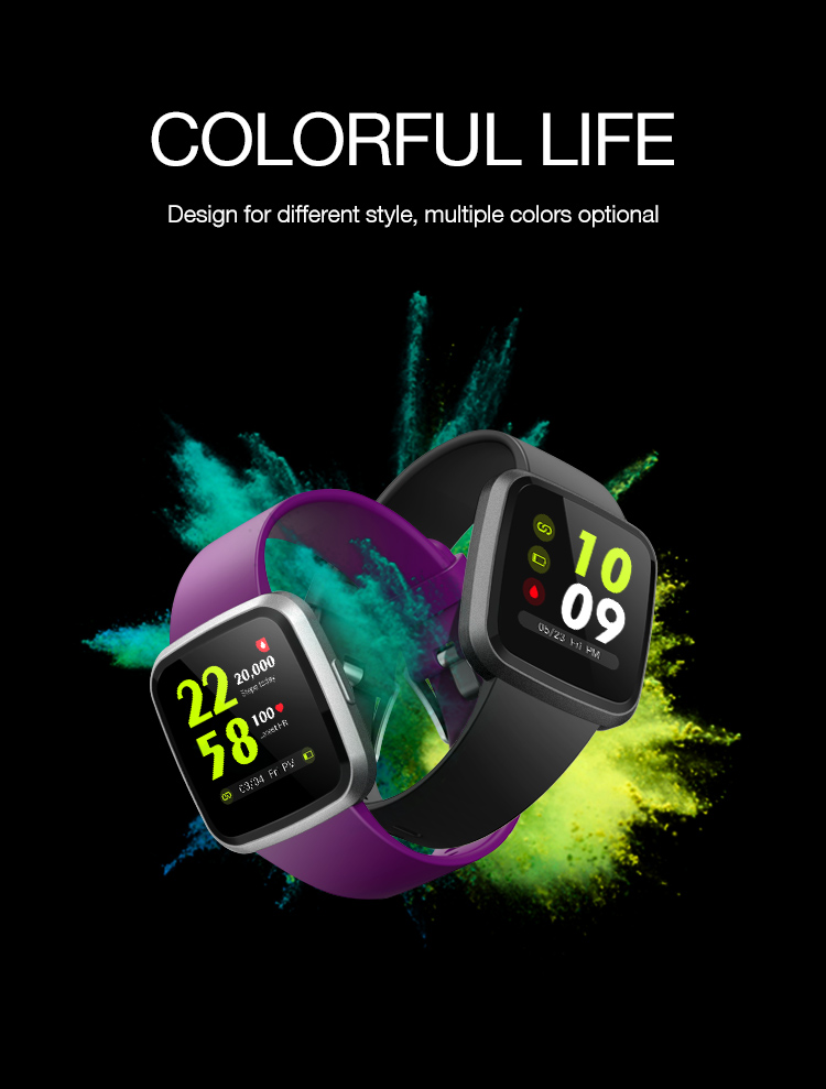 New products Full touch IPS screen waterproof smart bracelet fitness sport smart watch High quality ce rohs smart watch