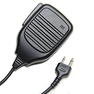 Pro Heavy Duty Shoulder Remote Speaker Mic Microphone PTT For Icom Maxon Yaesu Vertex Two Way Radio 2pin