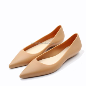 Simple Closed Toe PVC Jelly Tango Women Dress Shoes
