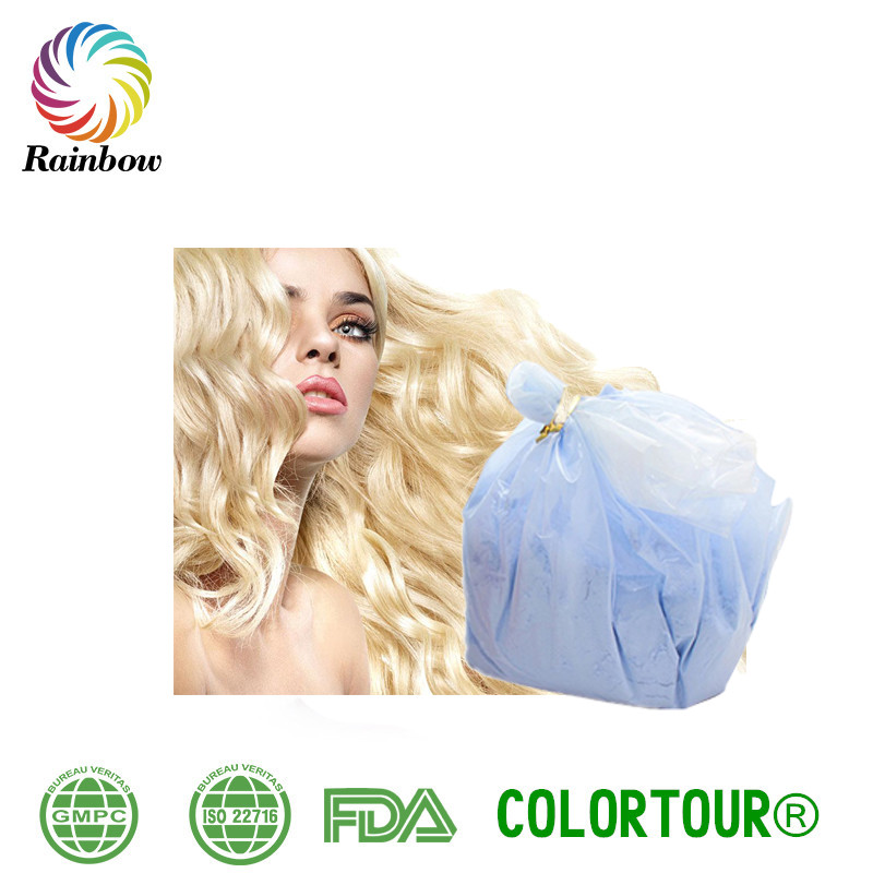 Best quality blue color professionally organic hair bleaching powder for hair fading