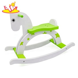 Hot sale riding toys wooden kids rocking horse for sale W16D121