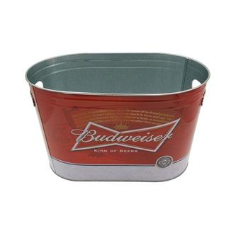 Budweiser China Printed tin ice bucket wholesale for bar