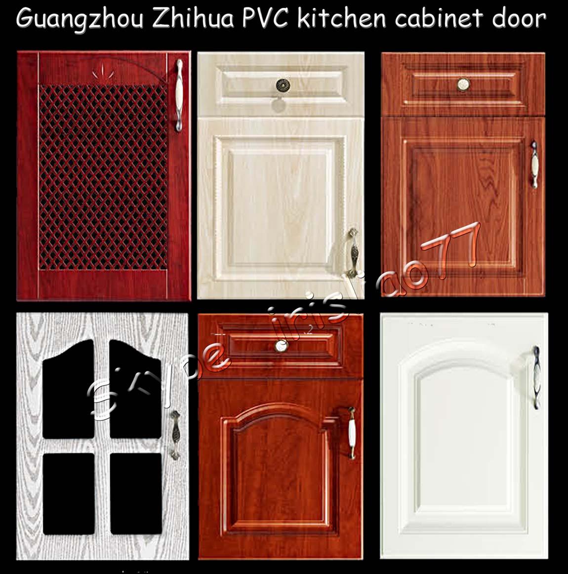 blanco de pvc laminado gabinete de cocina puerta precio-Cocinas ...