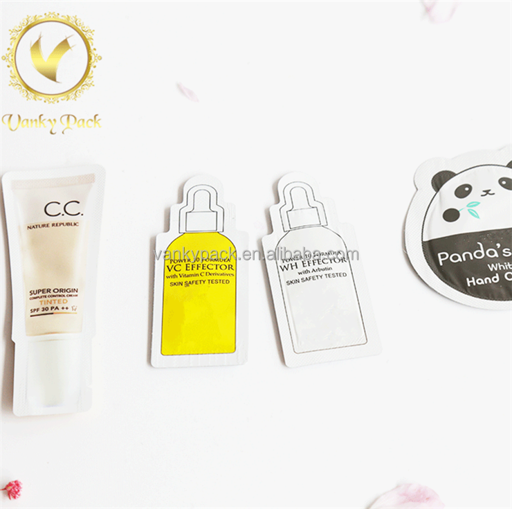 Qute small mask sample packaging bag skin essence liquid sachet packaging pouch