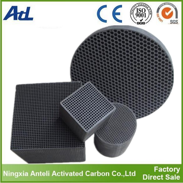 Filter Media round cylinders shape honeycomb activated carbon