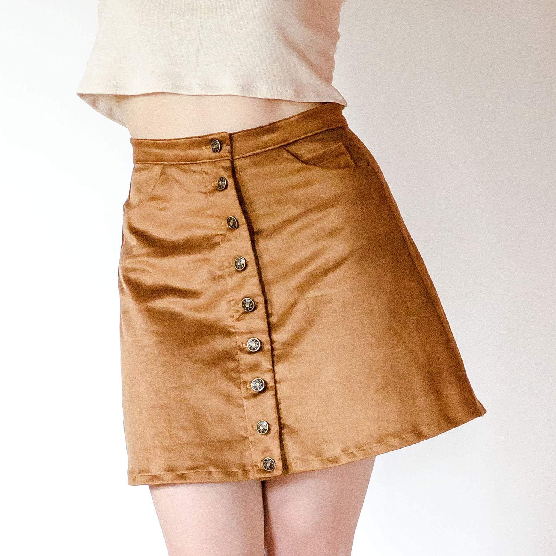 4f52da4f1dd Get Quotations · Women s Button Front Skirt
