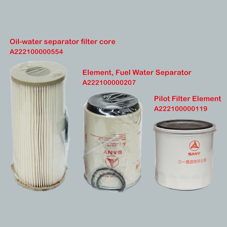 sany hot sale excavator parts pilot filter element of oil