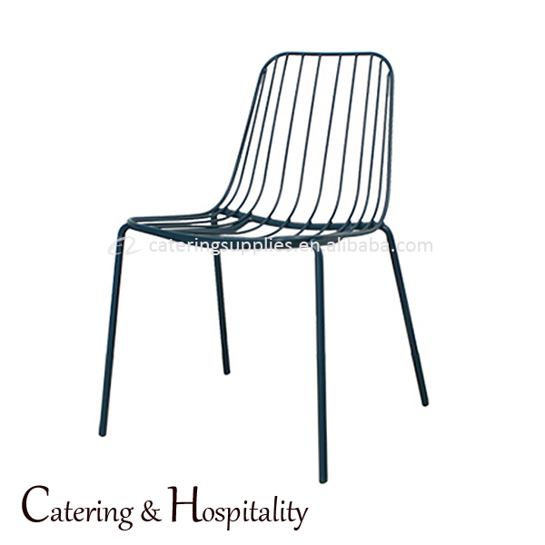 Comfortable Outdoor Garden Wrought Iron Chair Metal Mesh cafe furniture dining bent chair
