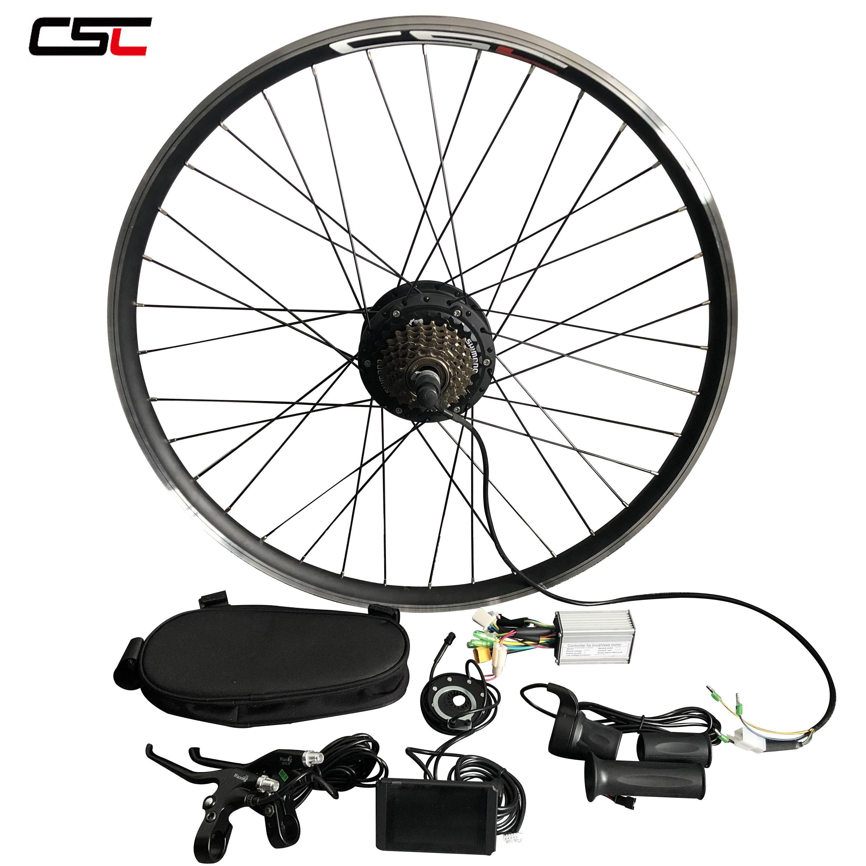 CSC Electric bike kit 26'' Ebike kit Hub Motor Drive Front Rear Wheel Motor 36V 500W Wholesale factory price ebike conversion