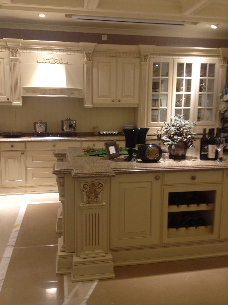 Mobili da cucina di lusso tirare le maniglie delle porte in legno massiccio armadio da cucina - Maniglie da cucina ...