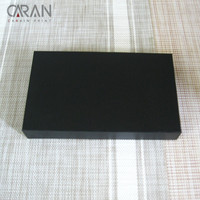 OEM Normal Design Black Cardboard Clothes Product Packing Unfolding Square Paper Box