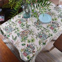 High quality cotton printed tartan plaid tablecloth fabric table cloth/table runner