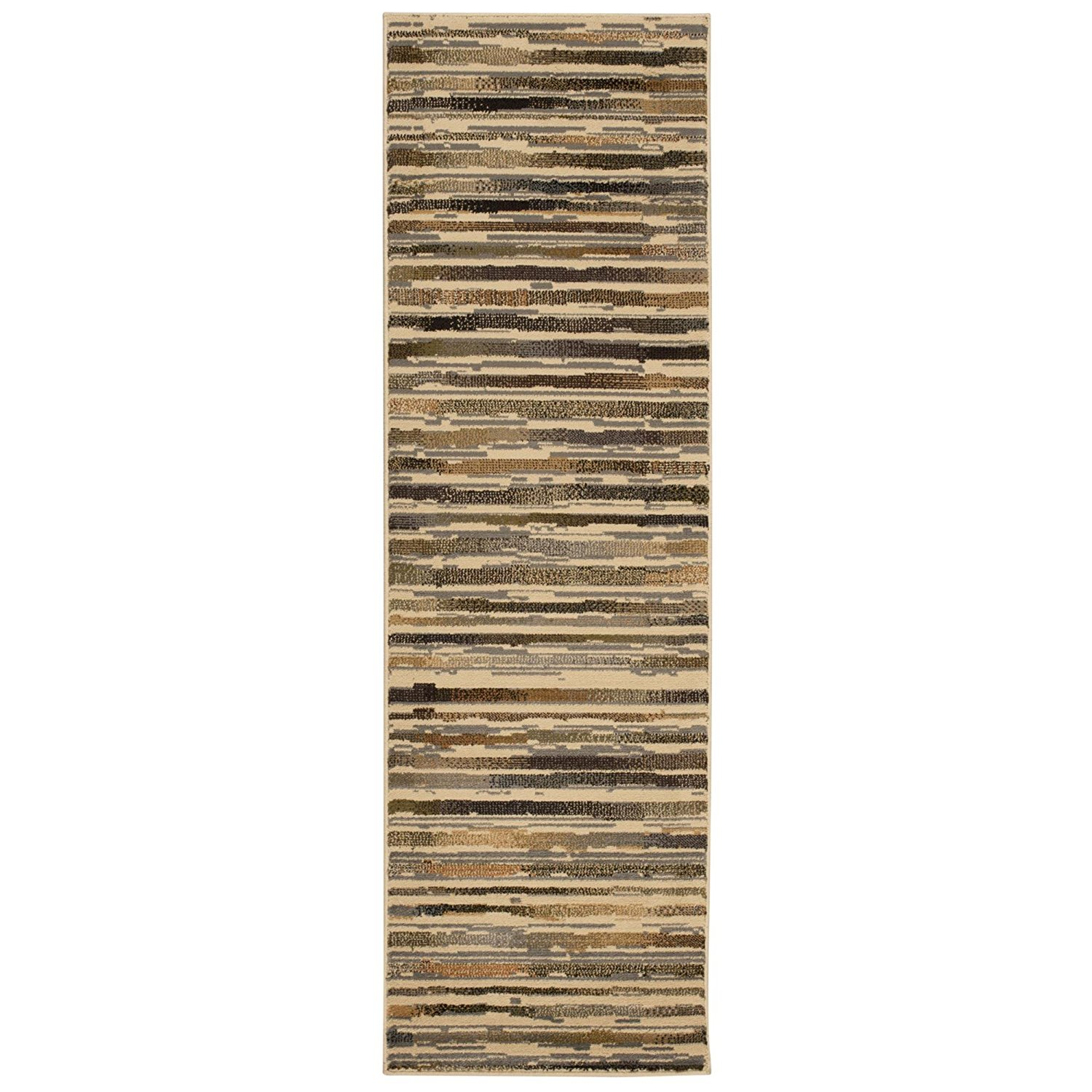 Rug Squared Mariposa Traditional Rug Runner (MAR15), 2-Feet 2-Inches by 7-Feet 3-Inches, Beige