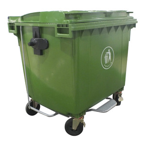 1100L big size industrial dustbin plastic waste container