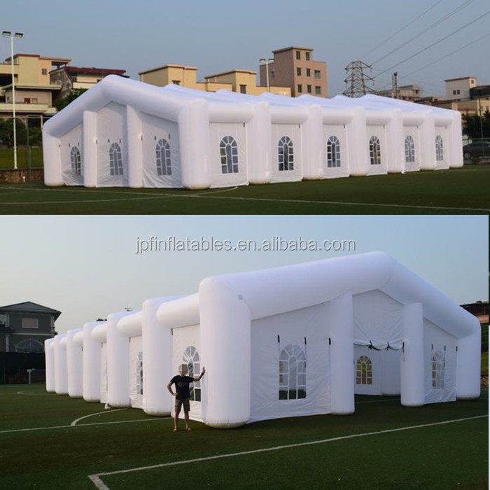 2019 white color oxford fabric made LED inflatable wedding party tents for sale