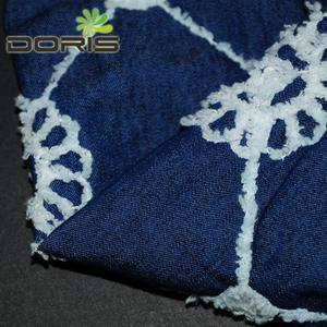 snow printing embroidery denim fabric for baby's clothing