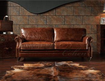 Classic Lounge Luxury Genuine Leather Corner Sofa Furniture Living