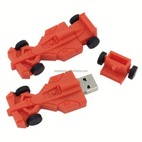 Factory supply F1 racing usb flash drive personalized PVC soft car usb drive company gifts fashion creative special