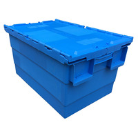 600*400*315 PP material stackable and nestable plastic moving crate with lid plastic crate manufacturer