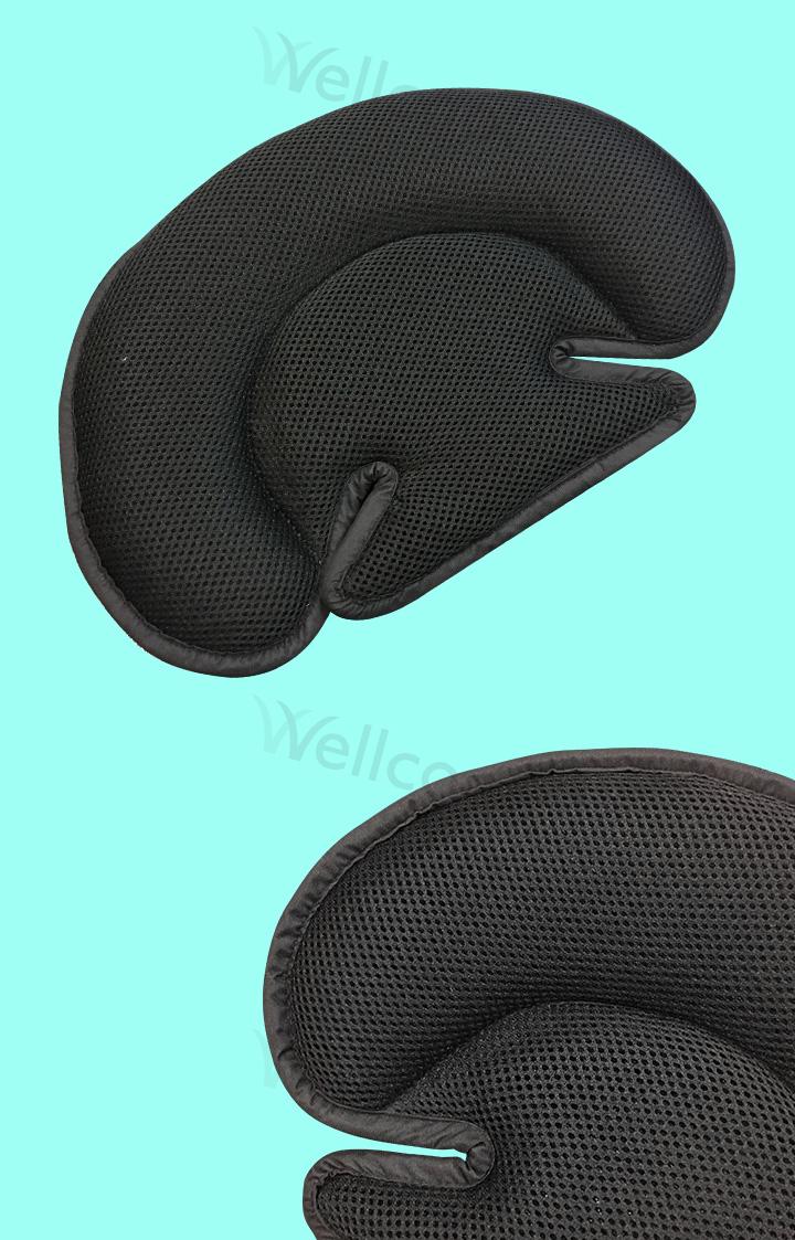 Custom black airflow breathable 3d air mesh fabric baby pillow flat head