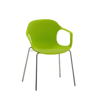 Delicieux Cheap Metal Legs Plastic Chair With Steel Frame Dining Chairs