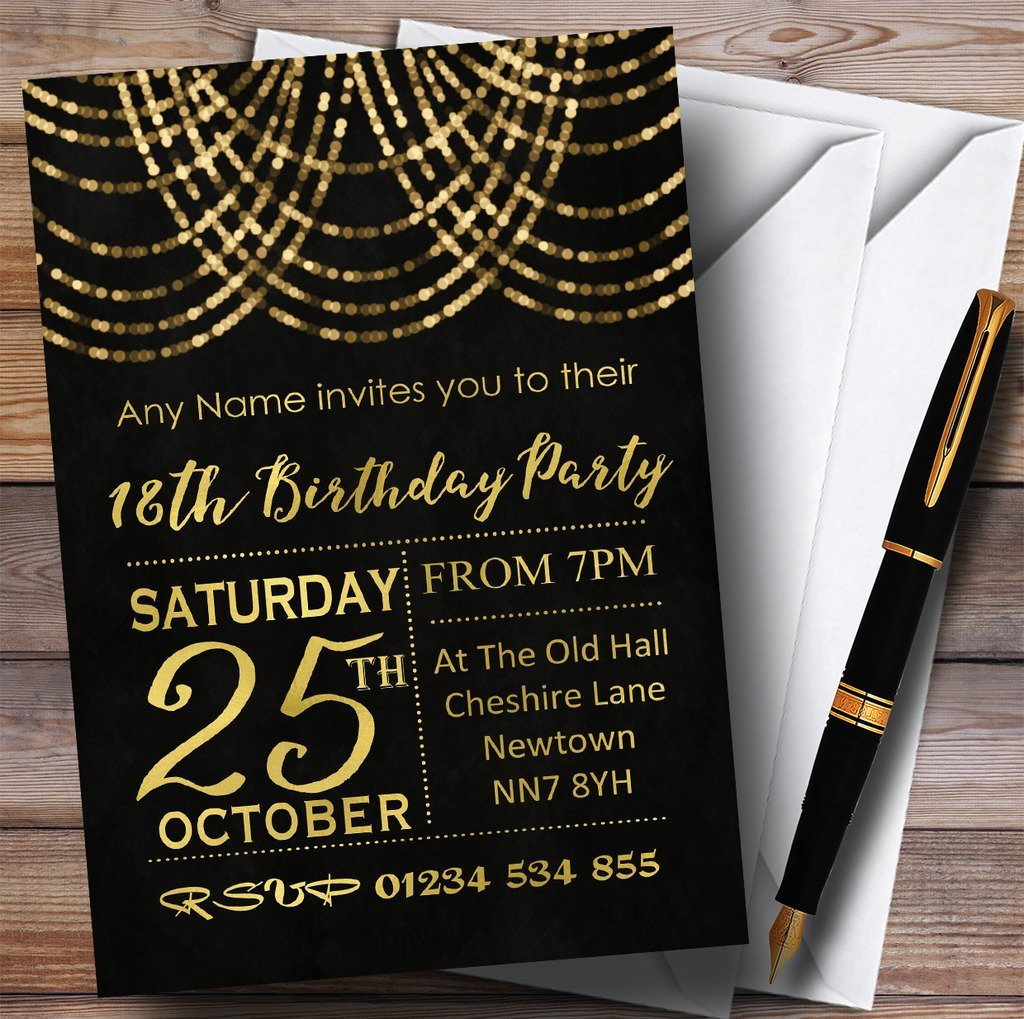 Cheap 18th invitations find 18th invitations deals on line at get quotations gold draped garland 18th personalized birthday party invitations filmwisefo