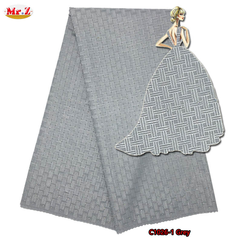 Mr.Z Grey Dry Lace Fabric