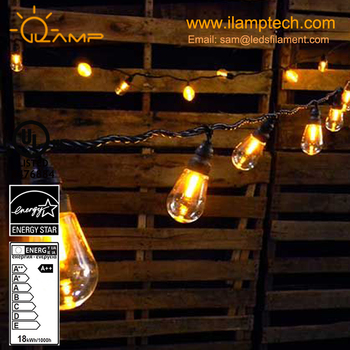 Led Light Bulb String Lights Outdoor Edison Bulb Rope 10 Sockets With  Build In Hanging