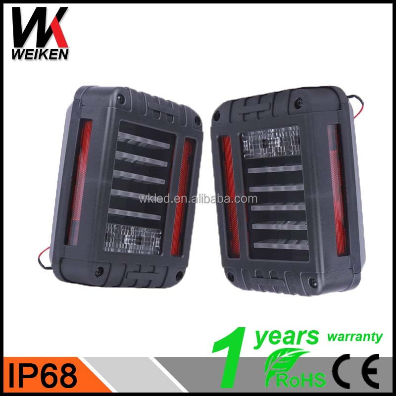 WEIKEN Plug and Play Led trailer tail light Rear Combinaion Lamp, stop/turn function dump jee p truck led tail light