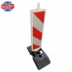 Road Rubber Lane Divide Reflective Traffic Lane Separators