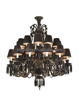 Baccarat Style Modern Black Crystal Chandelier