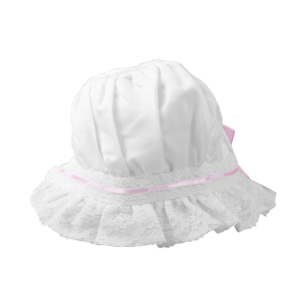 Get Quotations · Infant and Toddler Baby Girl Summer Hats with Bow Lace  Flower Adorable Sun Protection Baby Girl b1976bdc0300