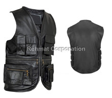 Fishermen Multipocket leather vest