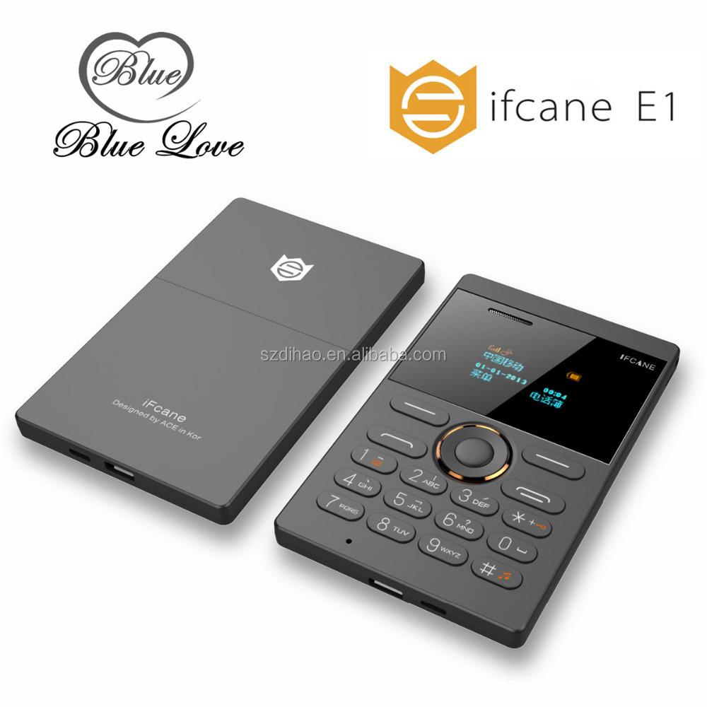 DIHAO IFcane E1 GSM quad band single sim card mini cell phone iFcane E1 GSM phone