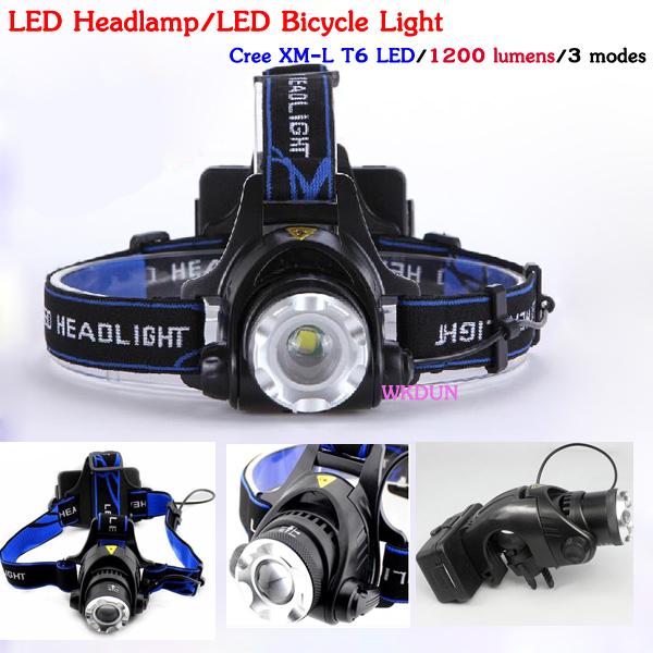 China Wholesale Cree Xm-l T6 Led 1200lm 3 Modes Led Headlamp