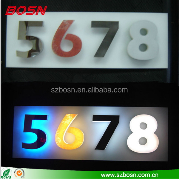 Customized Sharped Acrylic LED Number Letters, Acrylic LED Number Letters, Acrylic Letters