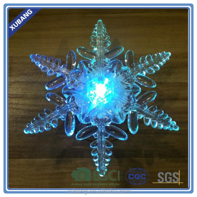LED snowflake with a suction cup