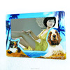 Dog cat epoxy refrigerator magnet picture frame