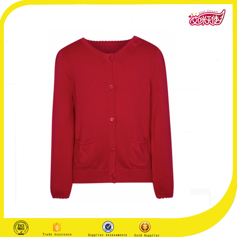 red butterfly knot school uniform sweater primary school uniform cardigans