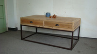 Chinese Style Wood Coffee Table With Drawer
