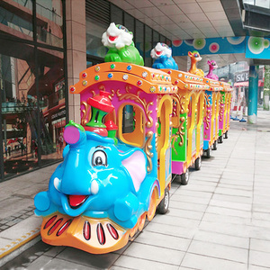 Outdoor Trackless sightseeing elephant train rides